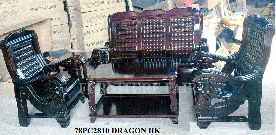 Wooden Sala Set 78PC2810DRAGON IIK