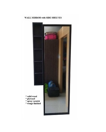 Wall Mirror with Side Shelves (made-to-order)