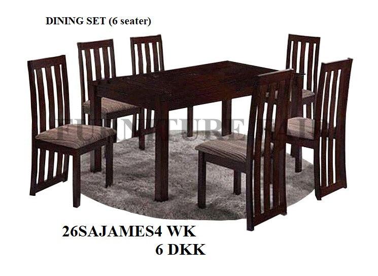 Dining Set 26SAJAMES 2NK 4WK 6DKK