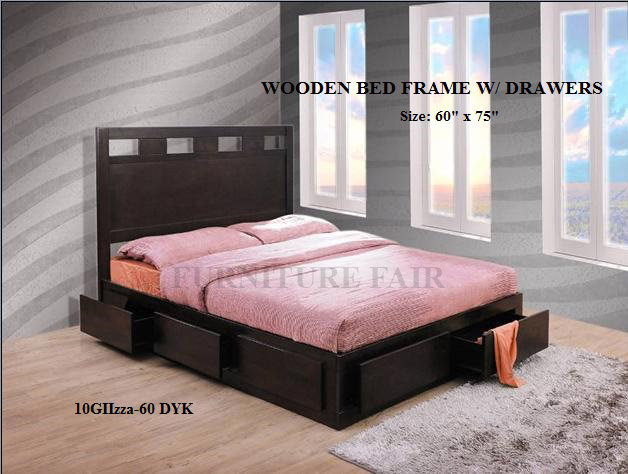 Wooden Bed Frame Queen Size 10GIIzza-60 DYK