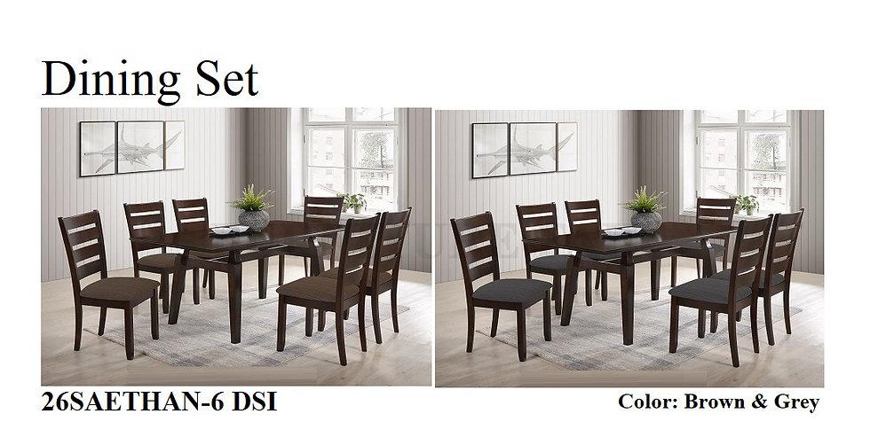 Dining Set 26SAETHAN-6 DSI