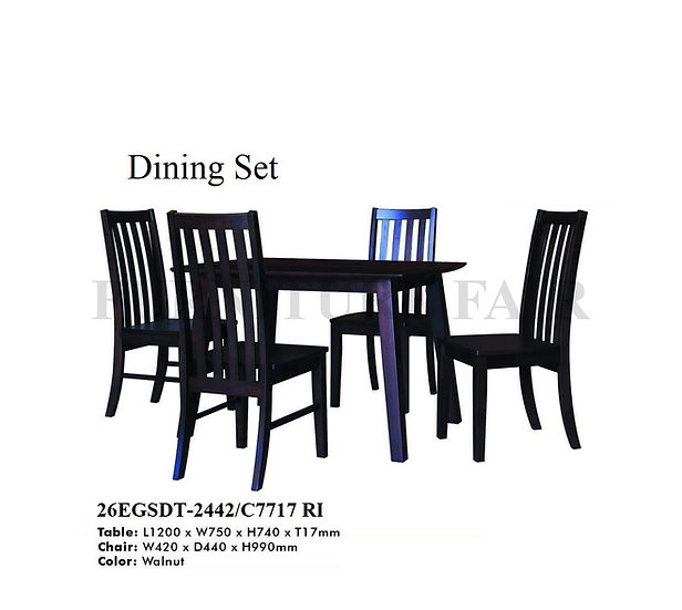 Dining Set 26EGSDT2442/C7717 RI