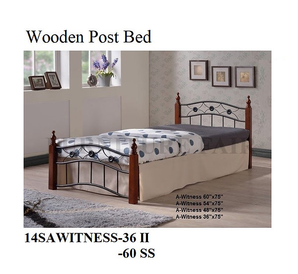 Wooden Post Bed 14SAWITNEWSS-36II 60SS
