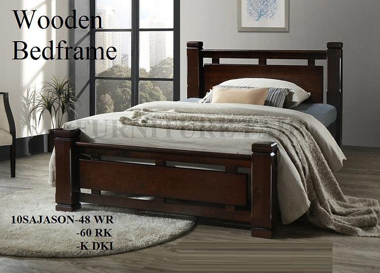 Wooden Bedframe 10SAJASON-48WR 60RK K-DKI