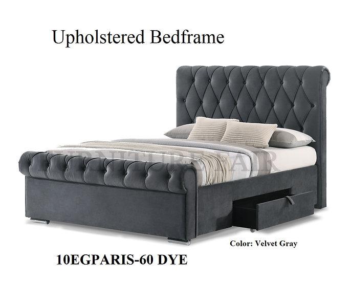 Upholstered Bedframe 10EGPARIS-60 DYE