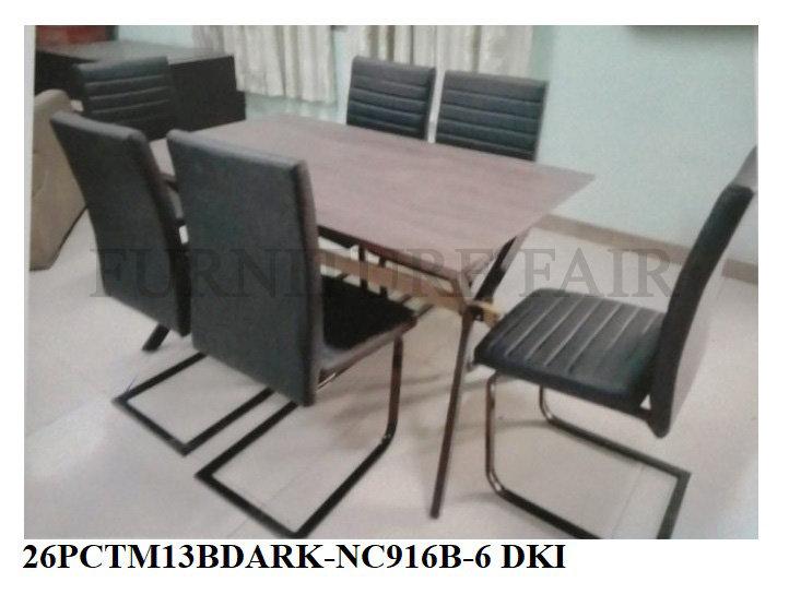 Dining Set 26PCTM13BDARK-NC916B-6 DKI