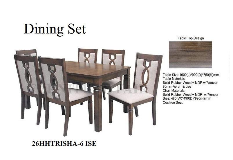 Dining Set 26HHTRISHA-6 ISE