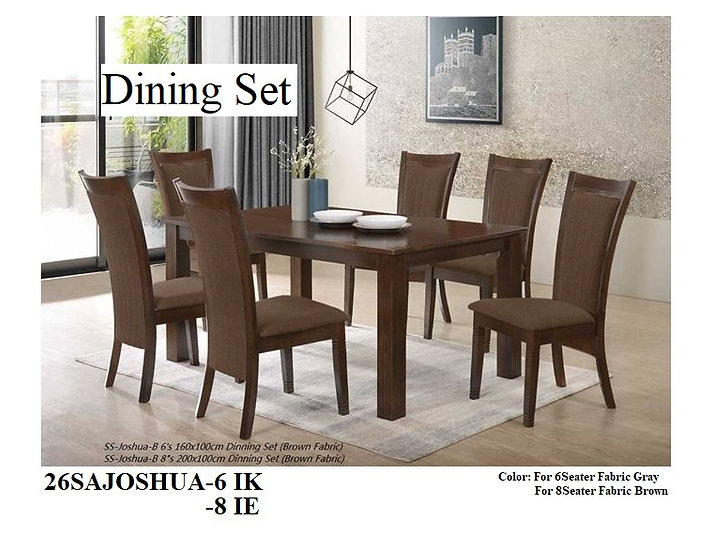 Dining Set 26SAJOSHUA 6IK 8IE
