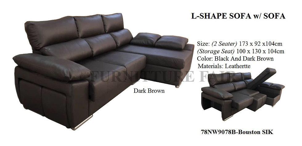 L-shape Sofa 78NW9078B-Bouston SIK