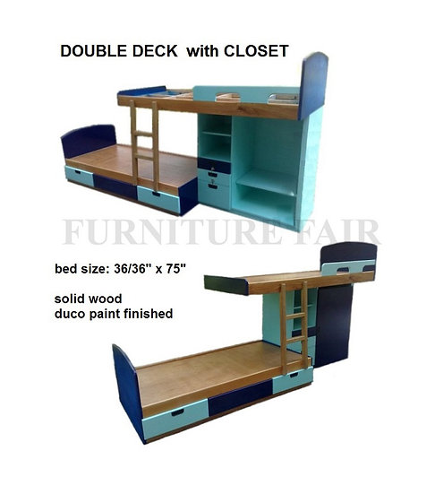 Double Deck with Cabinet & Drawers (made-to-order)