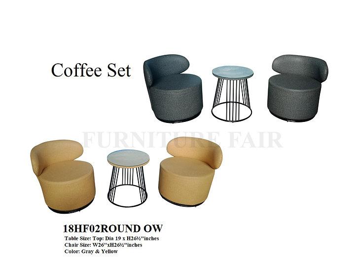 Coffee Set 18HF02ROUND OW