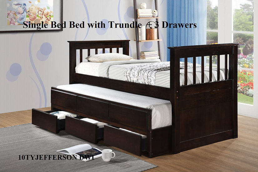 Wooden Bed Frame 10TYJEFFERSON DWI