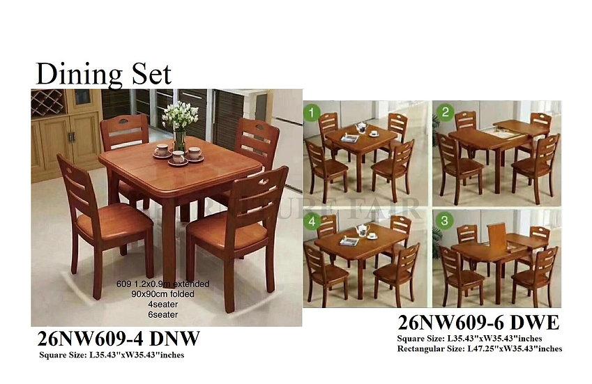 Dining Set 26NW609-4 DNW 6DWE