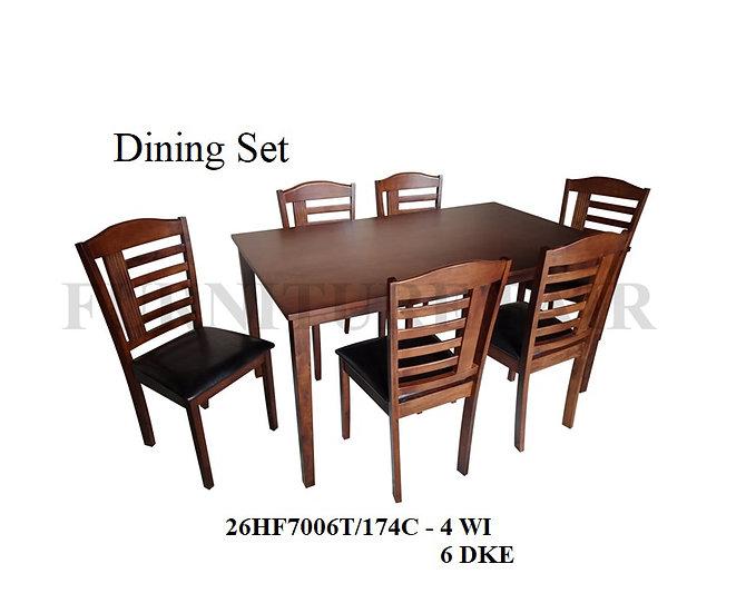 Dining Set 26HF7006T/174C 4WI 6DKE