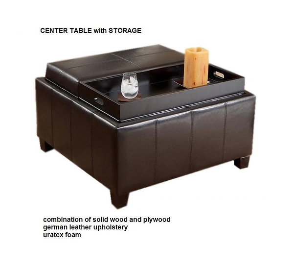 Center Table with Storage (made-to-order)