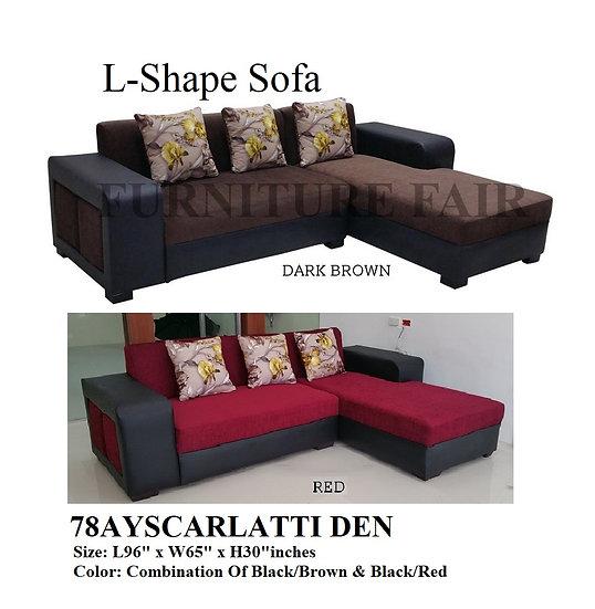 L-Shape Sofa 78AYSCARLATTI DEN