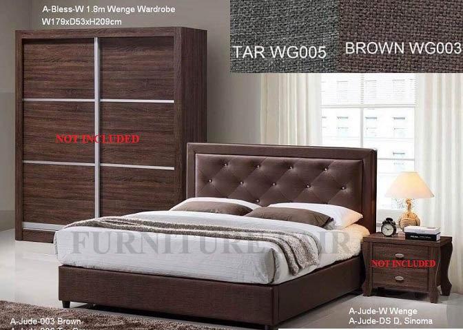 Upholstered bedframe 10SAJUDE36 N