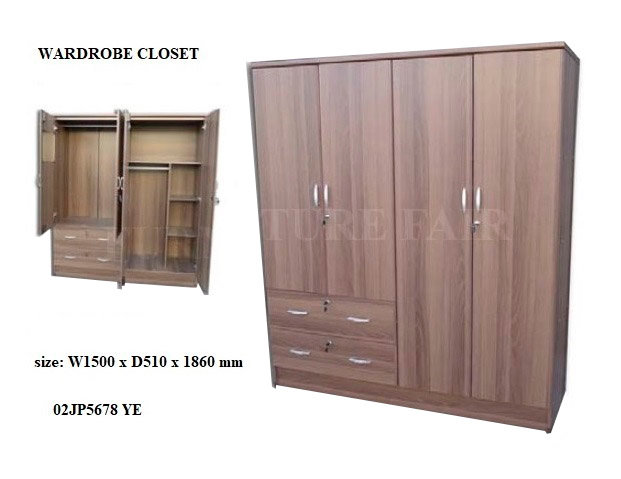 Wardrobe 4 Doors 02JP5678 WE