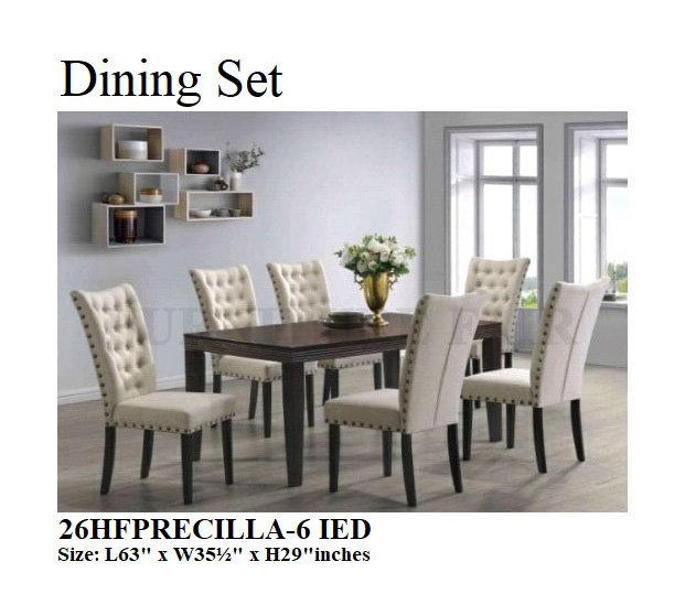 Dining Set 26HFPRECILLA-6 IED