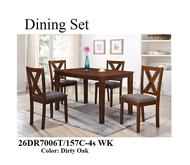 Dining Set 26DR7006T/157C-4s WK