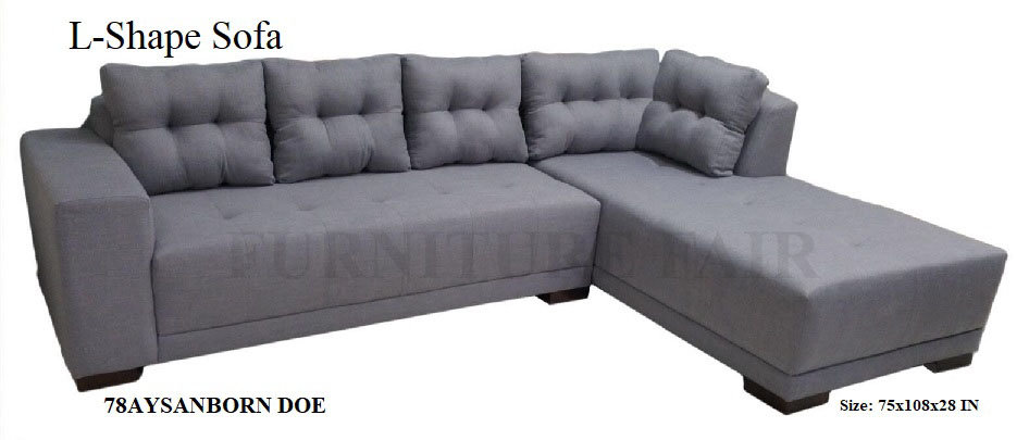 L-Shape Sofa 78AYSANBORN DOE