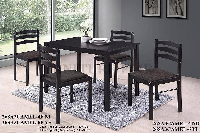 Dining Set 26SA3CAMEL-4ND 6YI 4F-NI 6F-YS
