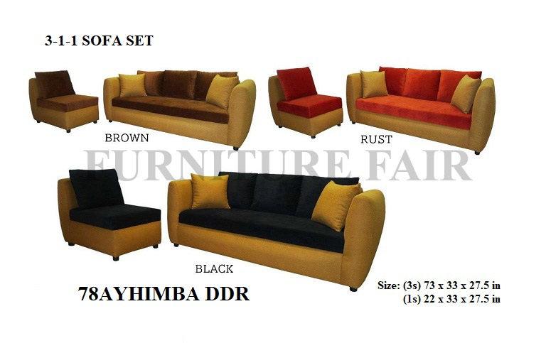 Sofa Set 78AYHIMBA DDR