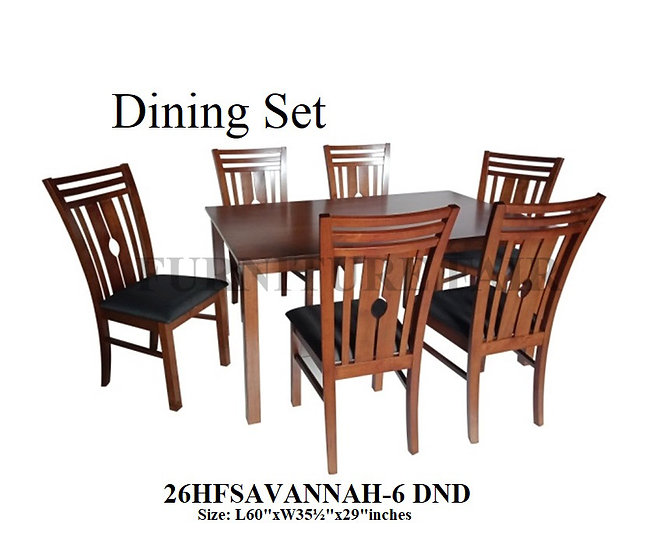 Dining Set 26HFSAVANNAH-6 DND