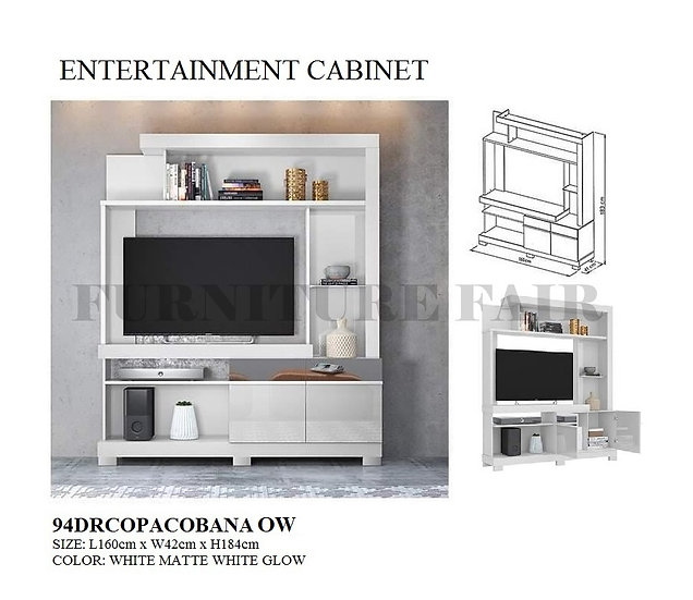 Entertainment Cabinet 94DRCOPACOBANA OW