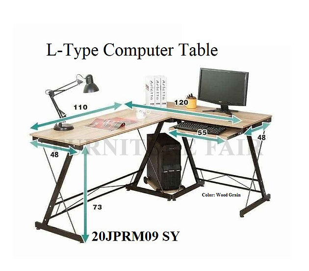 L-type Computer Table 20JPRM09 SY