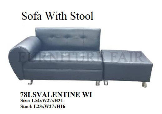Sofa With Stool 78LSVALENTINE WI