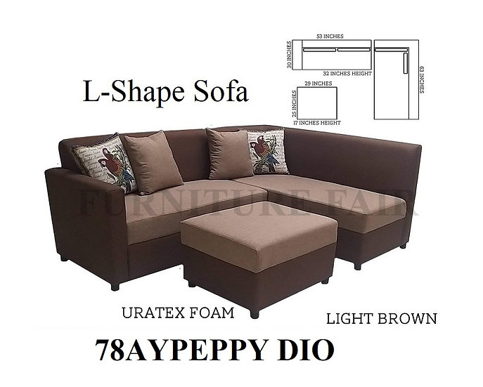 L-Shape Sofa 78AYPEPPY-URA DIO