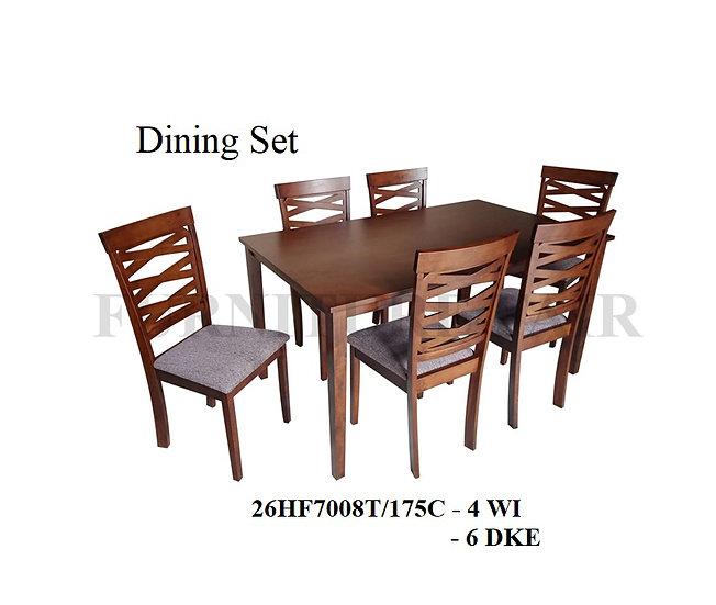 Dining Set 26HF7008T/175C 4WI 6DKE