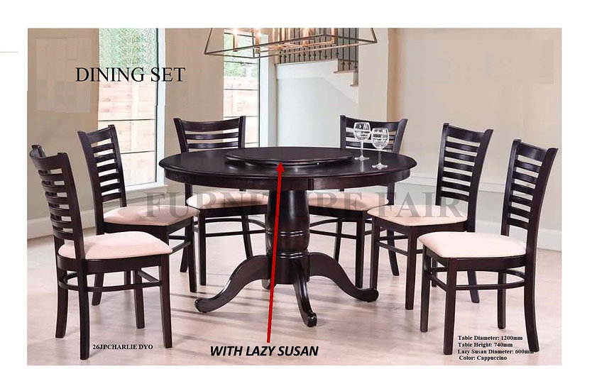 Dining Set With Lazy Susan 26JPCHARLIE DYO