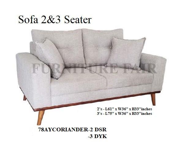 2 & 3 Seater Sofa 78AYCORIANDER-2 DSR 3DYR