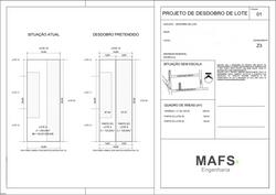 Projeto para Desdobro de Lote - Suzano/SP