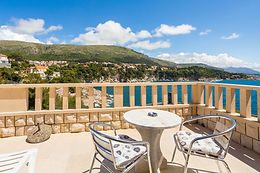 You can enjoy on beautiful 40sqm terrace with sea views, take a 10-15 minutes walk to Old town, enjoy a 2 min walk to Bellevue beach or 1 min walk to Libertas beach...  Perfectly located on the best part of Dubrovnik, just across Libertas Rixos hotel, with the best views on sea, islands and Old town, our guesthouse is perfect for exploring Dubrovnik and area.