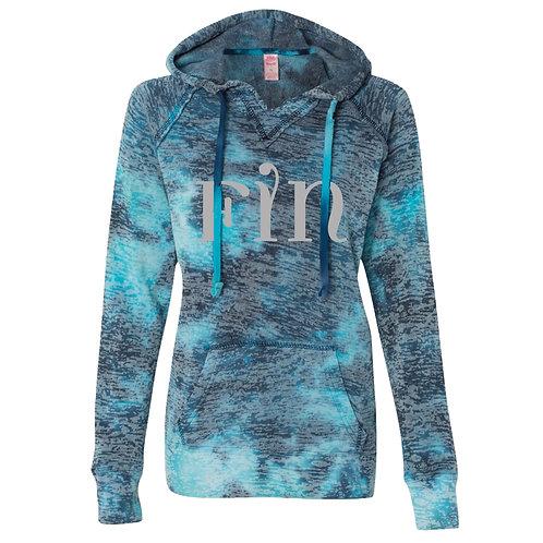 FIN Women's Burnout V-Notch Sweatshirt