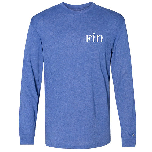 FIN Triblend Performance Long Sleeve