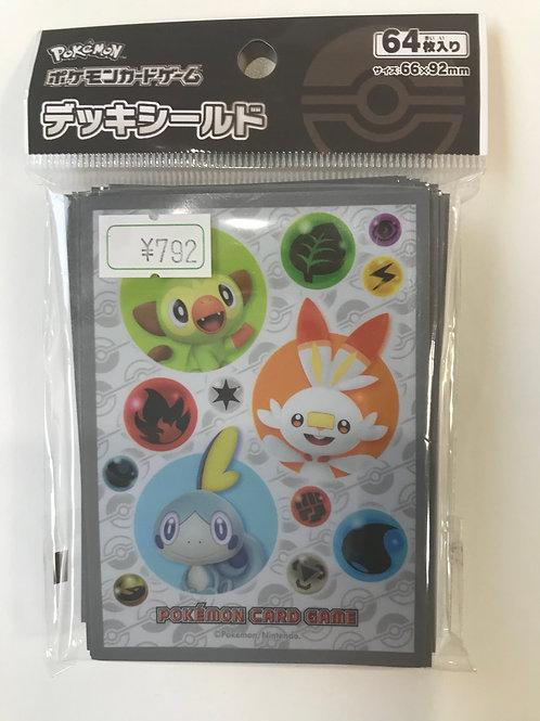 ポケモンカードゲームデッキシールドサルノリ・ヒバニー・メッソン