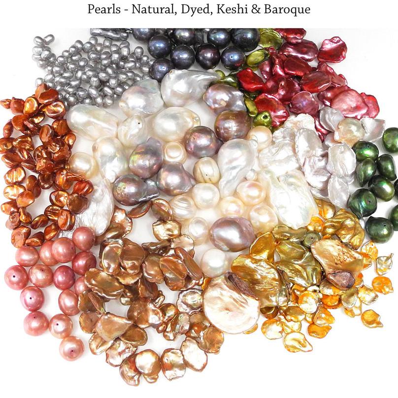Pearls - Natural, Dyed, Keshi & Baroque
