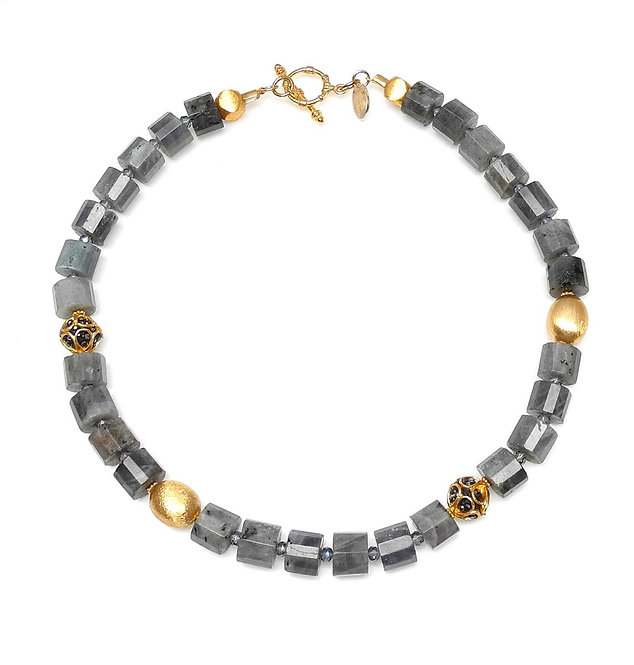 Classic Labradorite & Gold Necklace