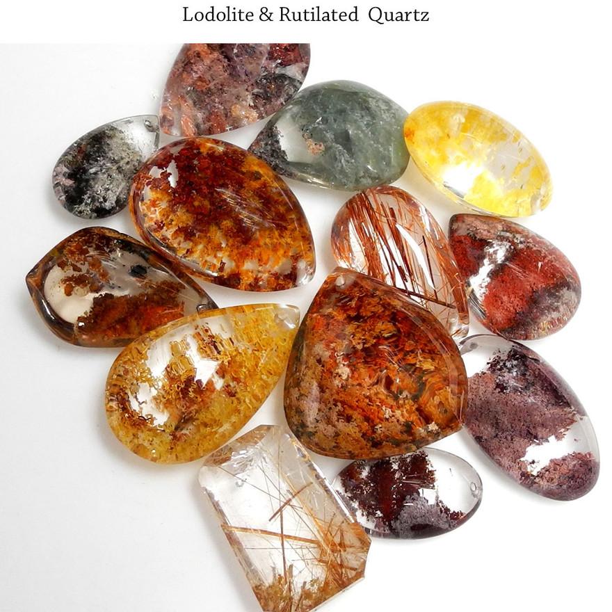 Lodolite & Rutilated Quartz