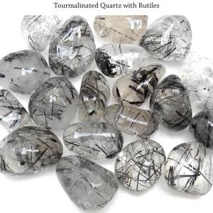 Tourmalinated Quartz with Rutiles
