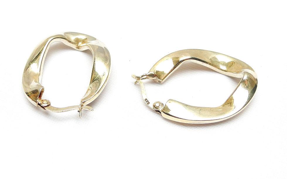 Large, Vintage, Sterling Silver Loops