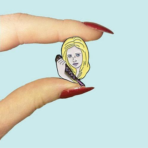 Buffy- SLAY pin