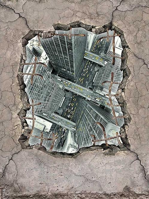 Betonplatte Loch, New York (Platte) ab