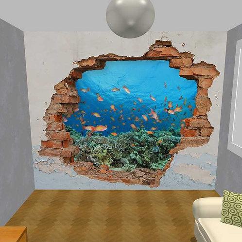 3D Wand Beton und Korallen (Belag)