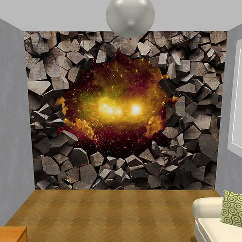 3D Wand Holz und Sonnenstaub (Belag)