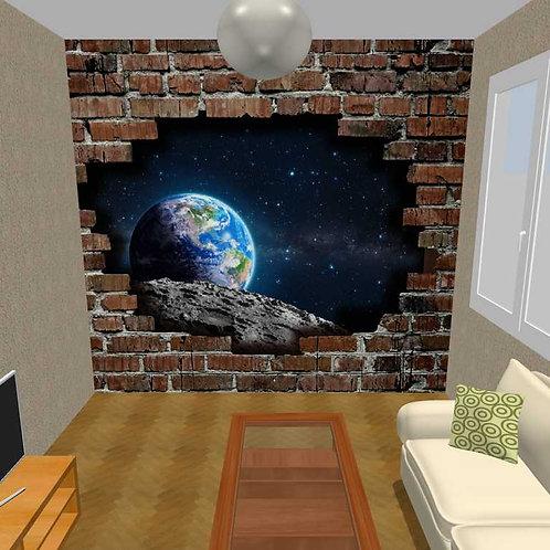 3D Wand Ziegel und Erde  (Belag)